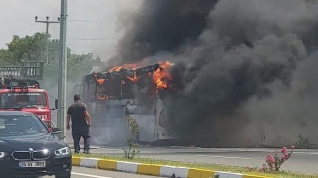 Ankara'ya Gelen Kamil Koç Otobüsü Alev Alev Yandı: Çok Sayıda Ölü Var