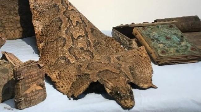 Şanlıurfa'da, Orta Çağ'dan kalma piton derisi ele geçirildi