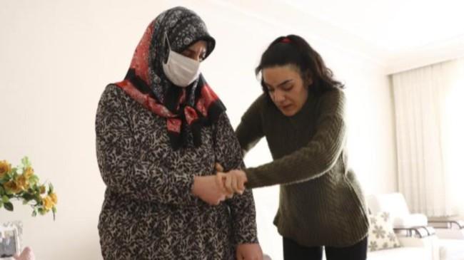 Ankara'da tedaviye başlayan Kezban, yatağa bağımlı olmak istemiyor