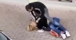 Antalya'da sokak ortasında kadın şiddeti