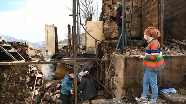 Artvin'deki yangından etkilenen vatandaşlara 1.5 milyon lira kaynak