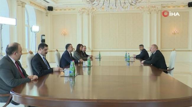 Bakan Bekir Pakdemirli, Azerbaycan Cumhurbaşkanı Aliyev ile görüştü