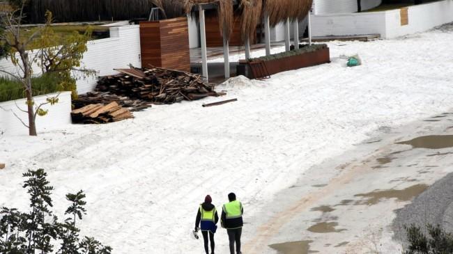 Bodrum plajlarında 'kuvars tozu' tehdidi