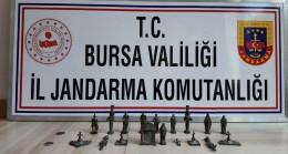 Bursa'da 900 bin liralık tarihi eser ele geçirildi