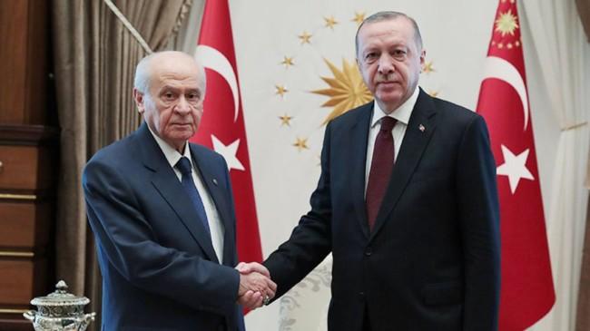 Cumhurbaşkanı Erdoğan, Devlet Bahçeli'yi tebrik etti