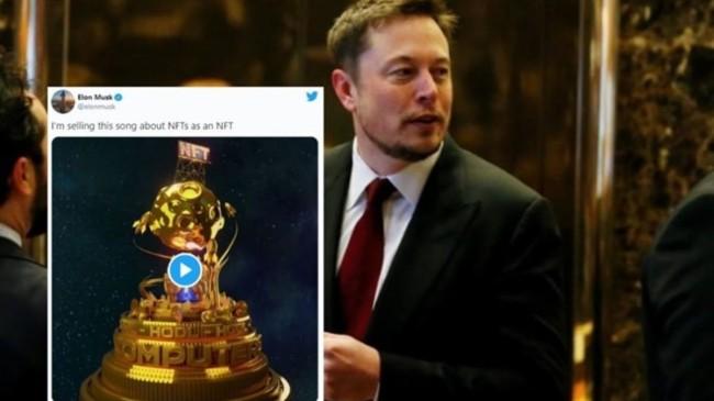 Elon Musk, yüksek teklife rağmen yaptığı NFT şarkısını satmaktan vazgeçti