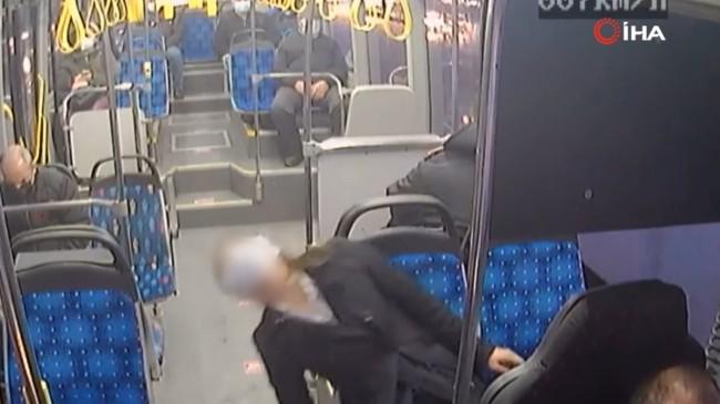 Otobüs şoförü bayılan kadını hastaneye yetiştirdi