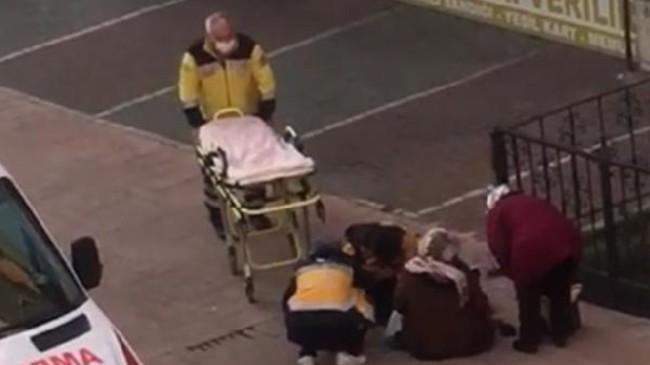 Samsun'da kaldırımda doğum yapan kadın