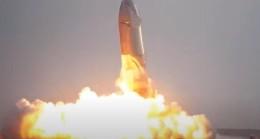 Starship roketinin iniş anına ait etkileyici görüntüler
