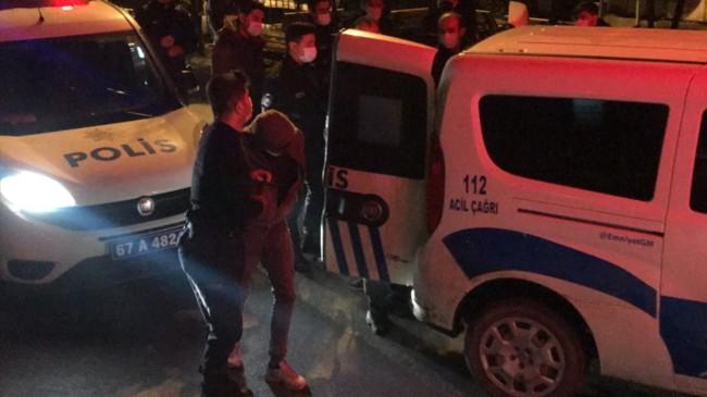 Zonguldak'ta polisten kaçarken kanala düştüler