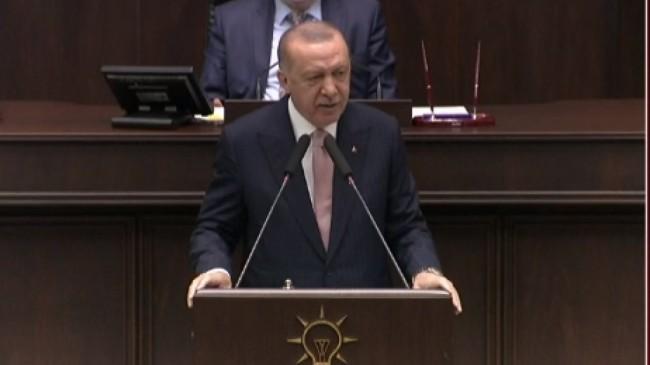 Cumhurbaşkanı Erdoğan'ın grup toplantısında izlettiği video: CHP'nin karşı çıktığı projeler